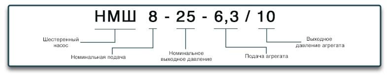 Расшифровка маркировки насоса НМШ 8-25