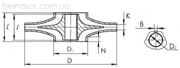 Рабочее колесо насоса двухстороннего входа Д и 1Д