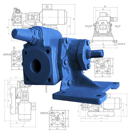 Насос НМШ 5-25-4,0/25 в сборе с электродвигателем для масла и патоки