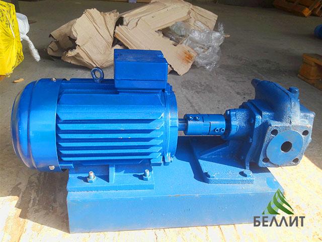 Насос НМШ 2-40 в сборе с электродвигателем для масла и патоки